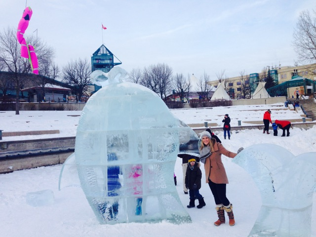 One of last year's frozen creations at The Forks (Tourism Winnipeg)
