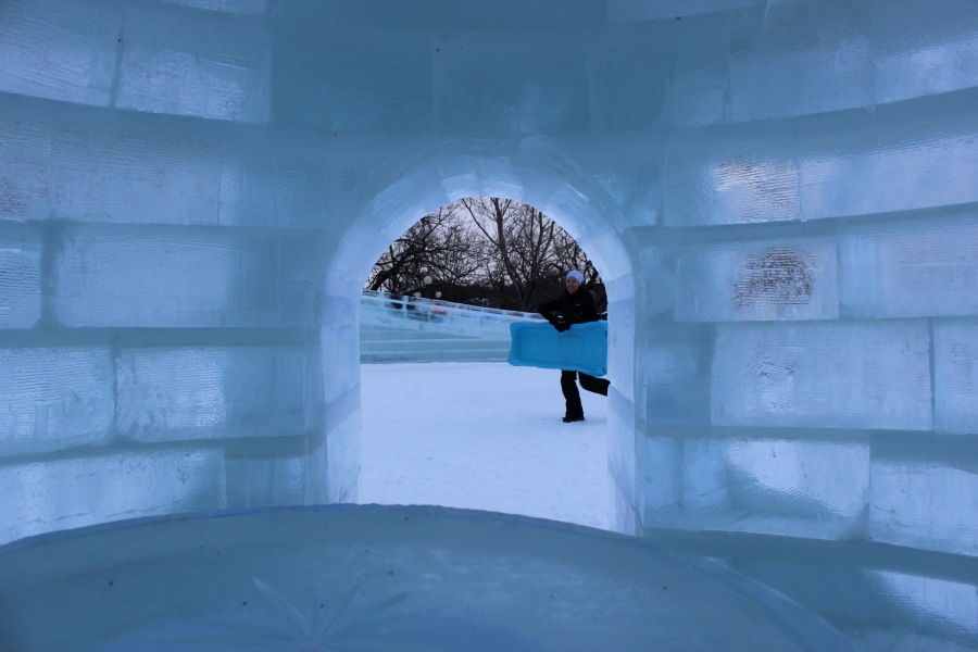 Igloos, ice slides, and ice sculptures galore at The Great Ice Show (Tourism Winnipeg)