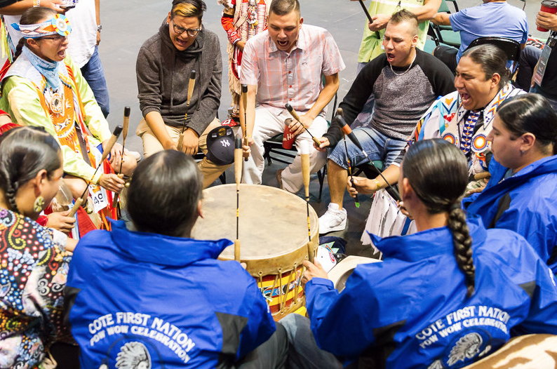 Drummers during last year's Pow Wow (photo by Kaylee Smoke)