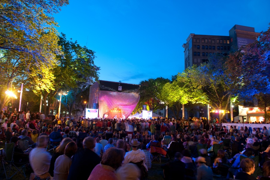 The free shows at the Cube during Jazz Fest are a huge draw (Dan Harper Photography)